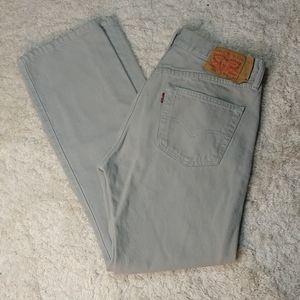 Levi's 501 Button Fly Khaki Color Jeans